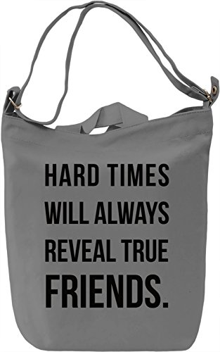 Hard Times Borsa Giornaliera Canvas Canvas Day Bag| 100% Premium Cotton Canvas| DTG Printing|