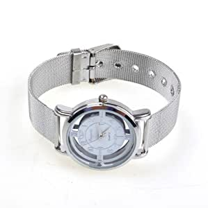 TOOGOO NEW Water Resistant Steel Rotary Dial Quartz Wrist Watch for Women