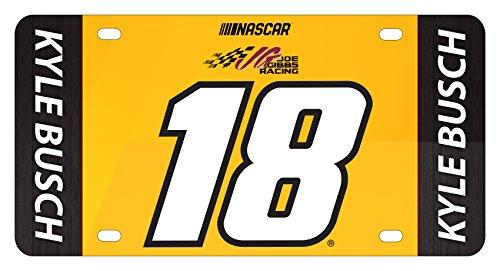 Kyle Busch #18 Metal License Plate