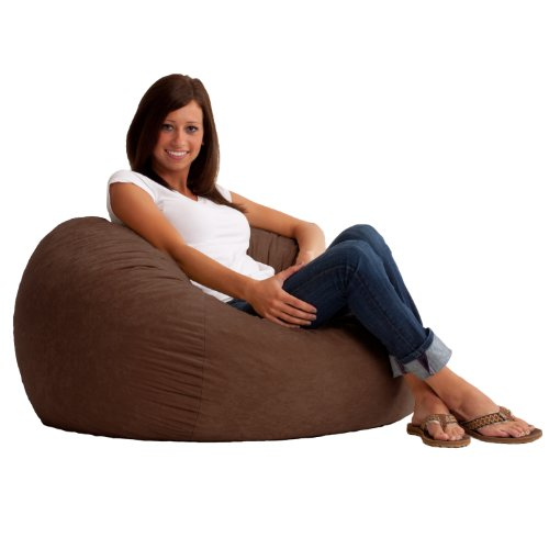 Big Joe Small Fuf in Comfort Suede, Espresso (Brown Bean Bag Chair)