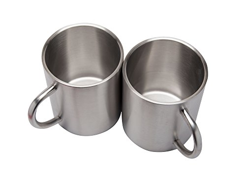 2 Pack Stainless Steel 15 Oz Double Walled Camping Cups 100% BPA Free Metal Mugs Outdoor Camp Cookware Military Surplus BBQ Hunting Accessories Bar BQ 4 Inch by Xena Intelligent Security (Image #4)