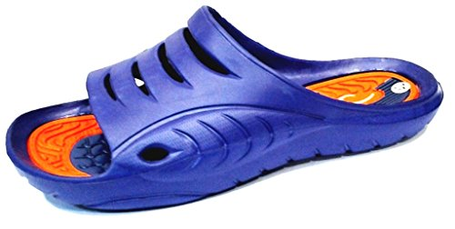 dema , Herren Hausschuhe Orange Blu/Arancione 44.5