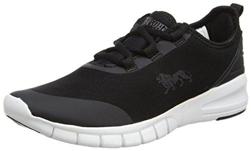 Lonsdale LLA491 - Zapatillas de Running de Tela Mujer, Color Negro, Talla 38