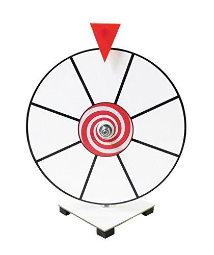 Prize Wheel 12'' White Face Dry Erase Kid Safe Pegless Design by Prize Wheel Fun