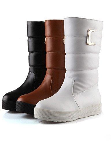 Y Exterior La Brown Mujer De Redonda us8 Xzz Moda Zapatos Botas Cn Plataforma Cn39 Comfort A Trabajo Eu39 Punta Oficina Vestido Casual Uk6 OqTwzTP