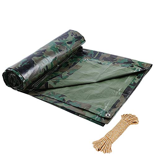 ZAQI Vinyl Camo Tarp with Grommets, Light Weight Multi-Purpose Waterproof Tarpaulins for Canopy Tent, Boat, Pool Cover (Size : 3M×5M)