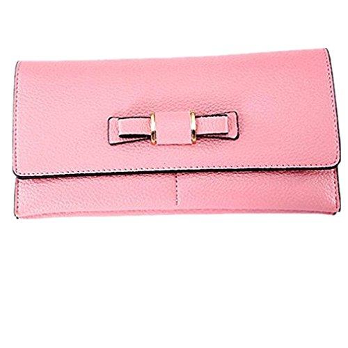 Hot Sale!Women Bow Tie Zipper Long Coin Purses Wallets Multifunctio Card Holder by VESNIBA
