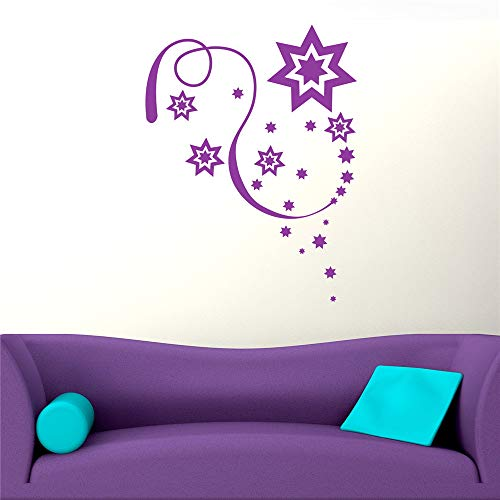 cinauc Vinyl Saying Lettering Wall Art Inspirational Sign Wall Quote Decor Celebration Stars for Living Room Bedroom Christmas Occassion]()
