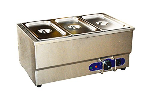 110v 3-pot Electric Commercial Bain-marie Buffet Food Sause Desktop Warmer by Kitchen Supply