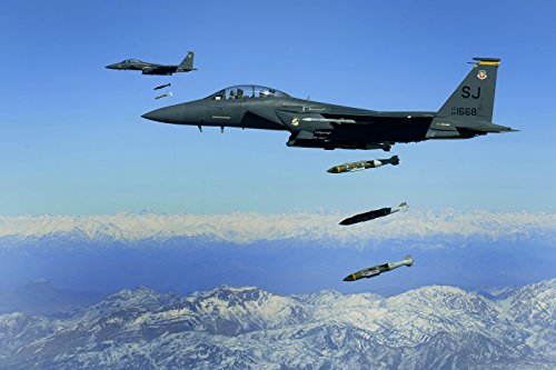 A U.S. Air Force F-15E Strike Eagle, from the 336th Expeditionary Fighter Squadron, drops - Mfnw
