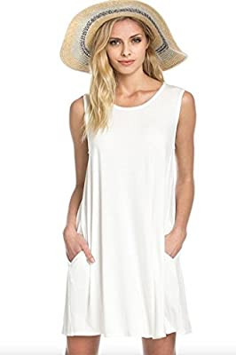 Bamboo Fiber Knit Sleeveless T-shirt Dress
