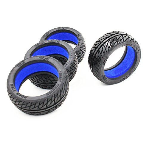 KKPIT 4Pcs High Performance 1/8 Off-road Street fighter Tire and Wheel hub for RC Car