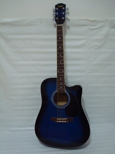 Ktone 6 String Acoustic Electric Guitar, Full Size, Cutaway,