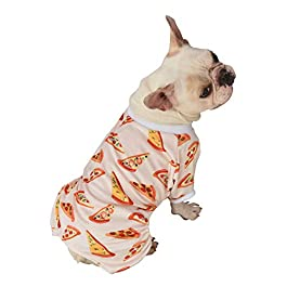 CuteBone Dog Pajamas Cat Pajamas Dog Apparel Dog Jumpsuit Pet Clothes Pjs