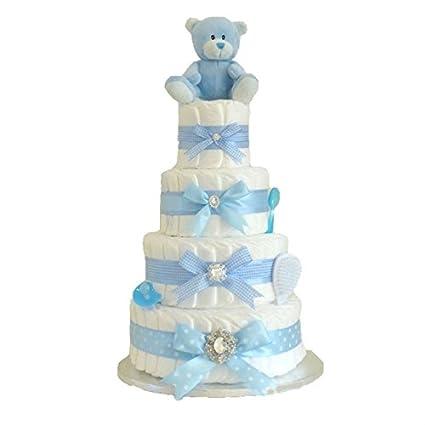 Firma Extra Large Deluxe - cuatro Tier azul marino Boys - tarta de ...