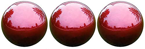 VCS RED10 Mirror Ball 10-Inch Red Stainless Steel Gazing Globe (Thrее Расk)