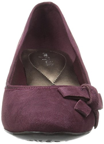 Easy Spirit Womens Shyma Wedge Pump Wine/Wine Suede