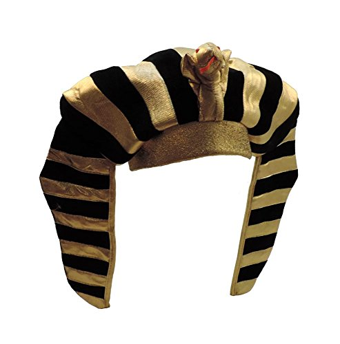[Egyptian Pharaoh King Gold Lamé Headdress Plush Crown] (Pharaoh Headdress)