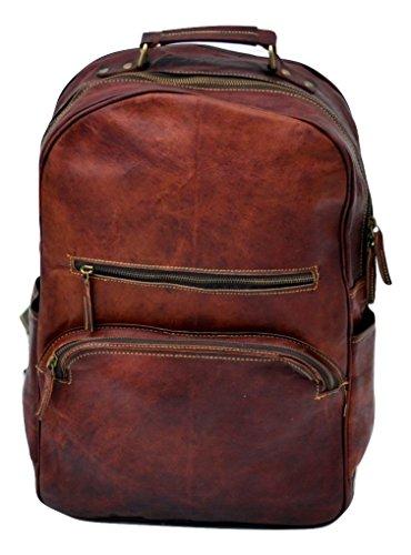 e7d941e985ab Romansh Genuine Leather College Bag Retro Rucksack Backpack School Picnic  Bag Travel