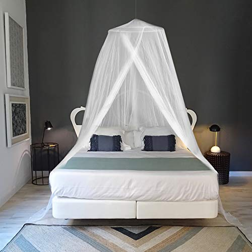 (EVEN NATURALS Luxury Mosquito Net for Bed, for Single to King Size, Quick and Easy Installation System, Unique Internal Loop, 2 Entries, Strong Carry Bag, No Chemicals Added)