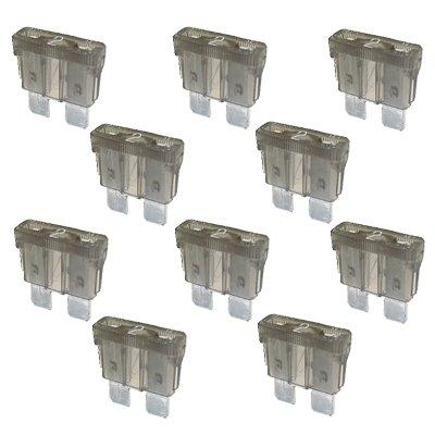 10 x Flachstecksicherung - Sicherung 2A / 32V / grau K24-Flachstecksicherung normal