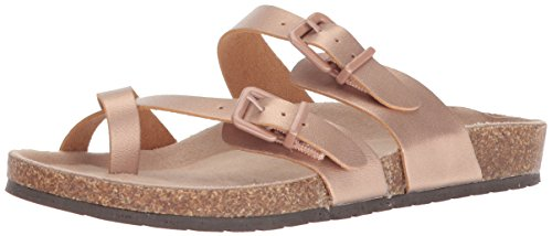 Sugar Sugar Women's SGR-XPORTER Flat Sandal, Rose Gold Smooth, 7.5 M US price tips cheap