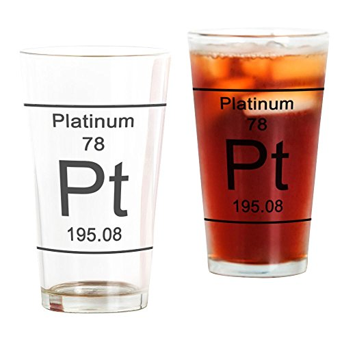 (CafePress 78. Platinum Pint Glass, 16 oz. Drinking Glass)