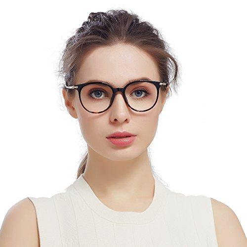 Jardin d'amour Womens Mens Round Wayfarer Fashion Optical Frame Non Prescription Eyeglasses JA7207 - Lens Eyeglass Discount Replacement