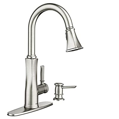 Lizzy Spot Resist Stainless 1-Handle Deck Mount Pull-Down Kitchen Faucet