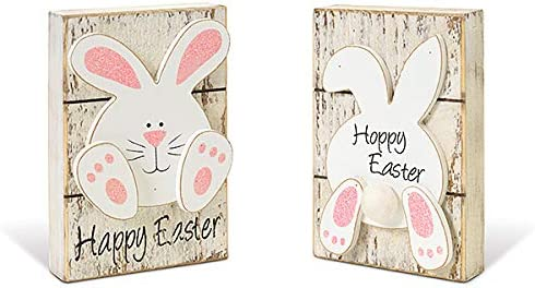 Happy Easter wooden box signs