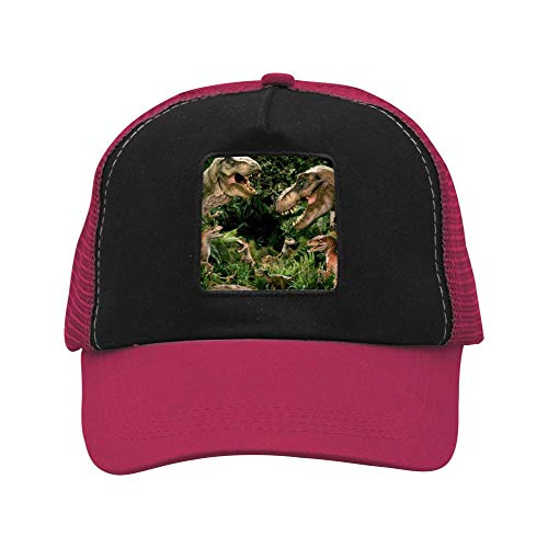 Walking Dinosaurs Aves Double-Breasted Caps Cool Beanie Hats Fan Fashions Dad Baseball Hats Adjustable Wine Red