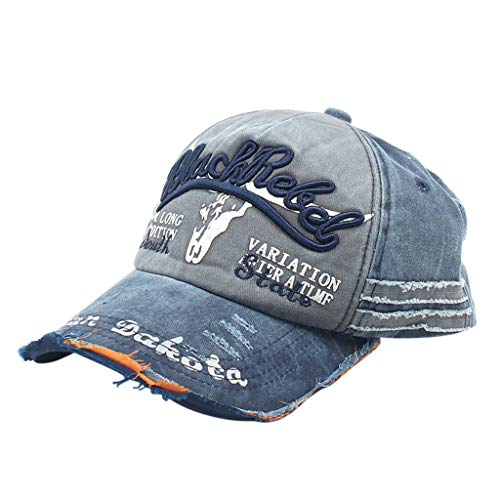 Loprt Embroidered Adjustable Vintage Washed Distressed Baseball Dad Hats Cap Gift for Kids Adults (Navy)