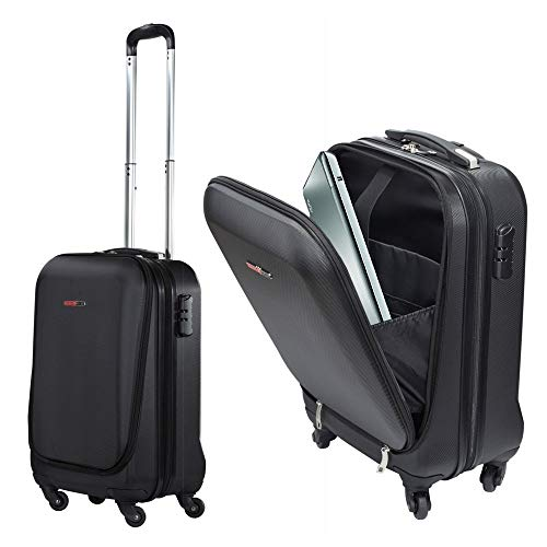 SwissCase Pro Business Traveller 20in ABS 4-Wheel Cabin Suitcase w/ Laptop Pocket (Renewed)
