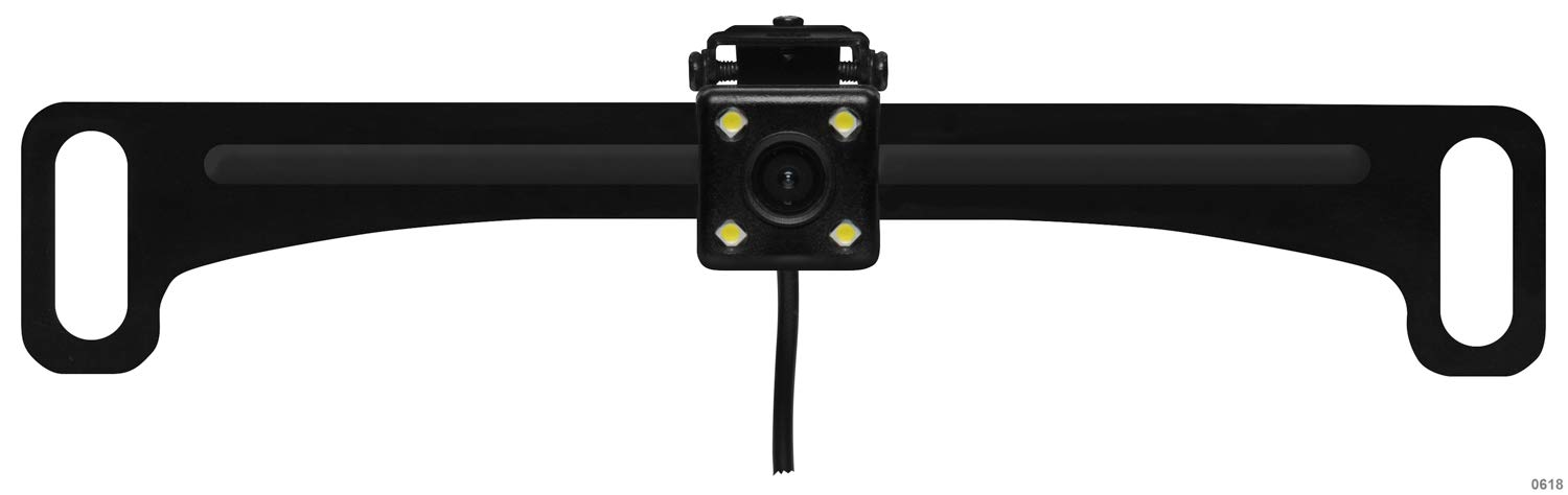 On-Screen Distance Guide High Resolution Color BOSS Audio ELPCB40 Rearview Car Backup Camera Weather Proof License Plate Mount Easy Mount 170/° Wide Angle View Low Light Visibility