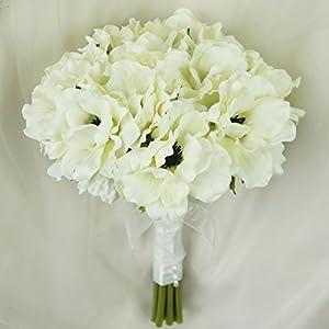 Lily Garden® Silk Anemone Artificial Flowers Wedding Bouquet 59