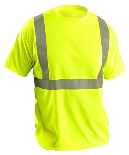 OccuNomix LUX-SSETP2B-YS ANSI Class 2 Standard Wicking Birdseye Short Sleeve T-shirt, Small, (Class Yellow T-shirt)