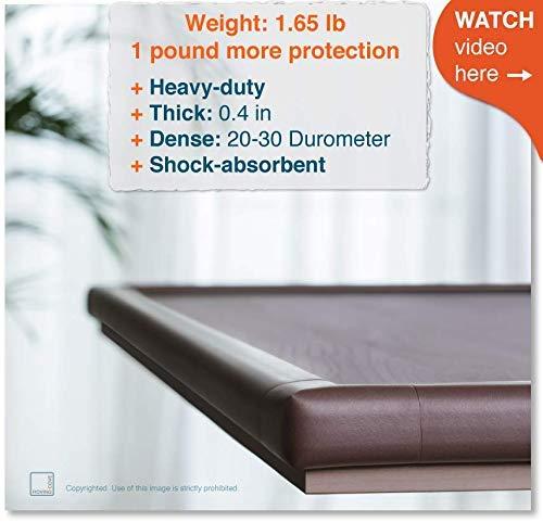 Protectores para bordes y esquineros.18 pies de borde + 8 esquinas Color marró