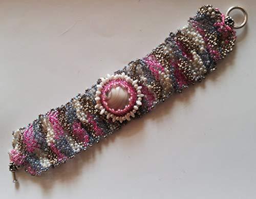 Freeform Cuff - Multicolor Beadwoven Freeform Bold Cuff Bracelet