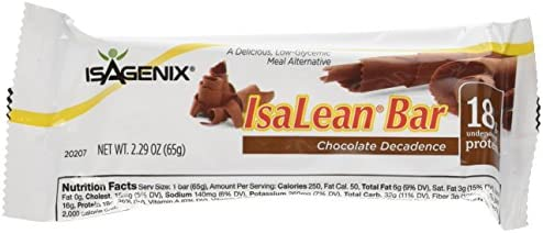 ISAGENIX Chocolate Decadence Bars 10ct, 2.29 oz 65g per bar