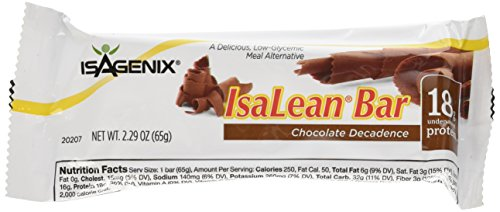 ISAGENIX Chocolate Decadence Bars 10ct, 2.29 oz(65g) per bar