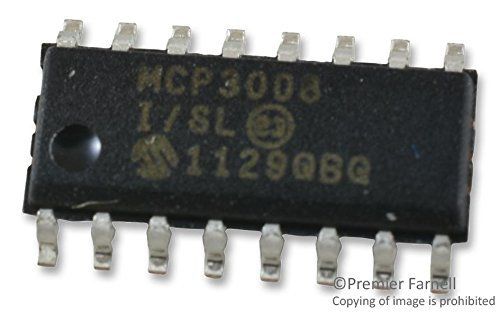Microchip Technology Inc. MCP3008-I/SL 10-BIT ADC, SPI, 8-CHANNEL