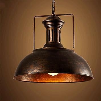 Industrial Nautical Barn Pendant Light - LITFAD 16u0026quot; Single Pendant L& with Rustic Dome/ & Industrial Nautical Barn Pendant Light - LITFAD 16