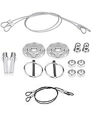 Bonnet Hood Pin Lock, CNC Aluminum Alloy Car Racing Hood Pin Lock Appearance Kit Universal (Silver)