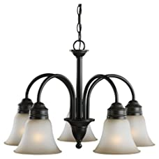 Sea Gull Lighting Gladstone 31851-965 5-Light Chandelier - 23.25 diam. in. - Antique Brushed Nickel