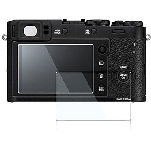 Screen Protector for Fujifilm X100T X100F X-E2 X-E2S,debous Anti-Finger Optical Tempered Glass for Fuji X100T X100F XE2 XE2S Digital Camera (2 Pack)