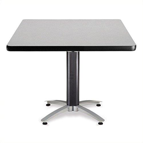 OFM KMT42SQ-GRYNB Square Multi-Purpose Table, Metal Mesh Base, 42'', Gray Nebula by OFM
