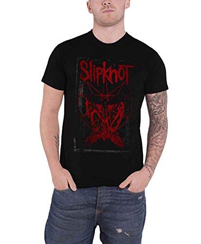 - Slipknot T Shirt Dead Effect Band Logo Gray Chapter Official Mens Black Size XL