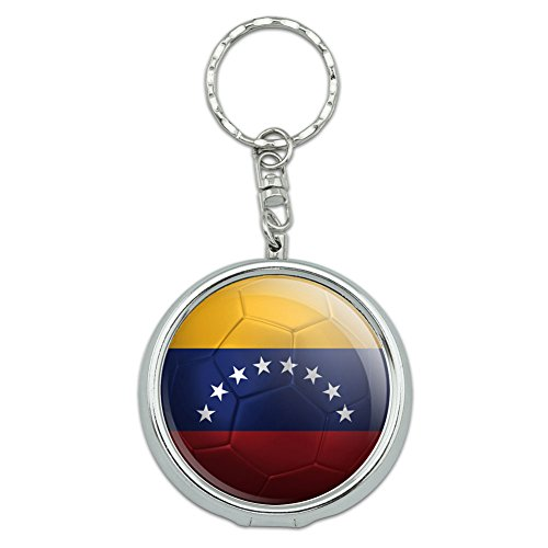 e Ashtray Keychain Soccer Futbol Football Country Flag I-Z - Venezuela Flag Soccer Ball Futbol ()