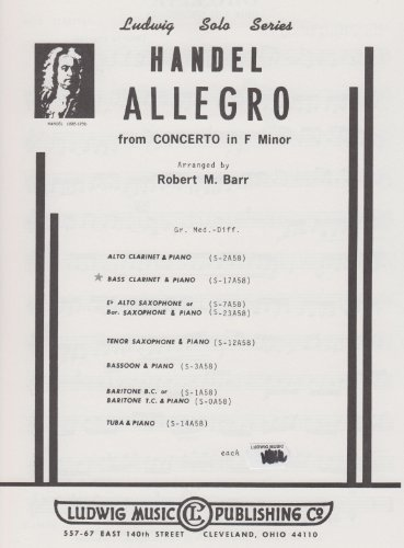 Allegro From Concerto in F for Bass Clarinet and Piano