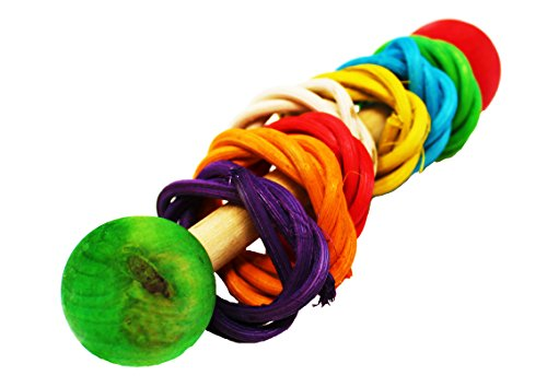 1406 Vine dumbell Rattle Foot Talon Toy Parrot Birds Toys Craft Part (Medium Sized Parrots)